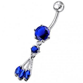 Buy Surgical Grade Steel Curved Bar Belly Button Ring PBM0723 online