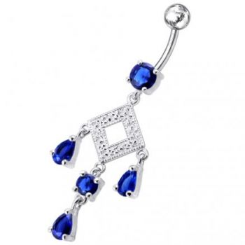 Buy 925 Sterling silver Belly Button Ring PBM0718 online