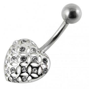 Buy Multi Jeweled Heart Belly Ring jewelry online