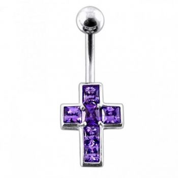 Buy Jeweled Cross Belly Button Ring online