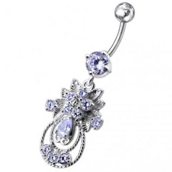 Buy Moving Jeweled Fancy Designed Belly Ring online