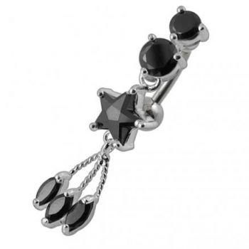 Buy Jeweled Star Reverse Belly Bar online