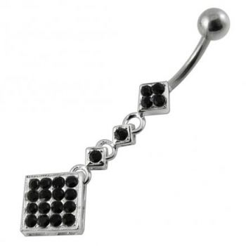 Buy Moving Jeweled Fancy Surgical Grade Steel curved bar Belly Ring online