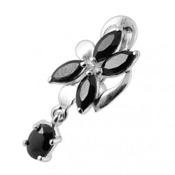 Buy Hanging Jeweled Flower Belly Button Ring online
