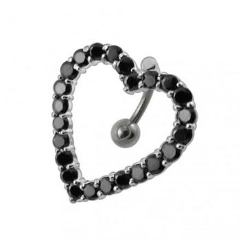 Buy Moving Jeweled Heart Shaoed Belly Ring online