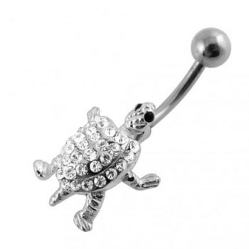 Buy Moving Jeweled Turtle Belly Ring online