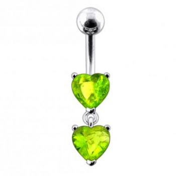 Buy Moving Jeweled Red Heart Belly Button Ring online