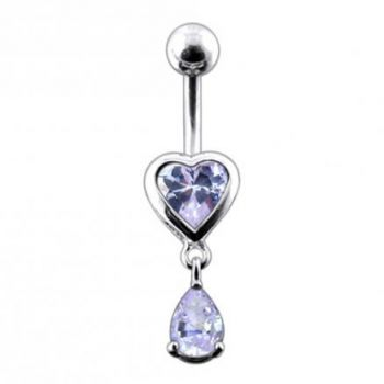 Buy Moving Jeweled Hearts Belly Ring online