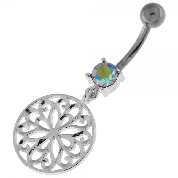 Buy Flower Of Life Dangling Navel Belly Button Ring online