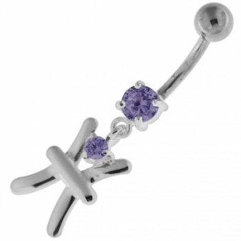 Buy Fancy Jeweled Sterling Silver Navel Belly Button Ring online
