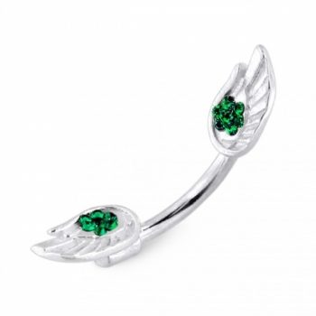 Buy Jeweled Wings Spinal belly button ring online