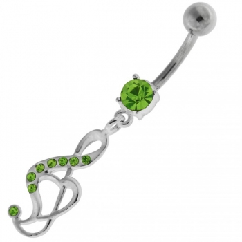 Buy Jeweled Music Note Navel Belly Button Ring online