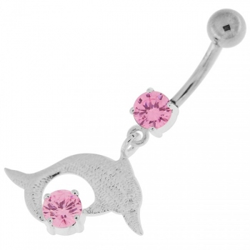 Buy Big Jeweled Jumping Dolphin Navel Belly Button Ring online