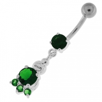 Buy Big Jeweled Panda Bear Navel Belly Button Ring online