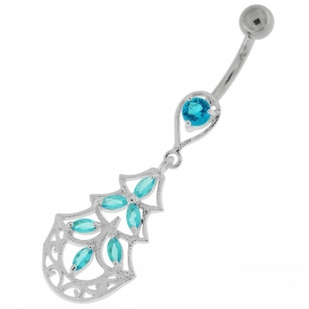 Buy Three Steps Jeweled Chandelier Navel Belly Button Ring online