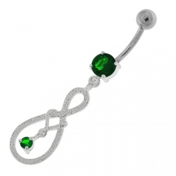 Buy Single Jeweled Hanging in center Navel Belly button Ring online