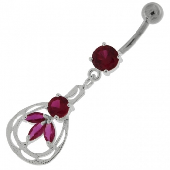 Buy Jeweled Dangling Fashion Navel Belly button Ring online
