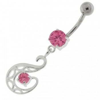 Buy Dangling Fashion Swan Navel Belly button Ring online