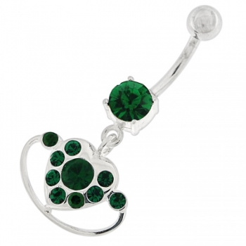 Buy Hanging Heart Ring Navel Belly Button Ring online