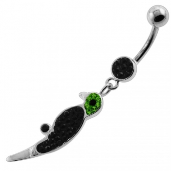 Buy Dangling Multi Jeweled Parrot Navel Belly Button Piercing online