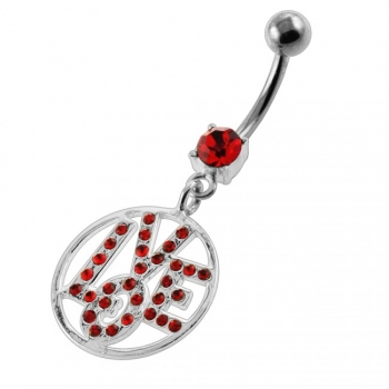 Buy Jeweled Word LOVE Navel Belly Button Piercing online