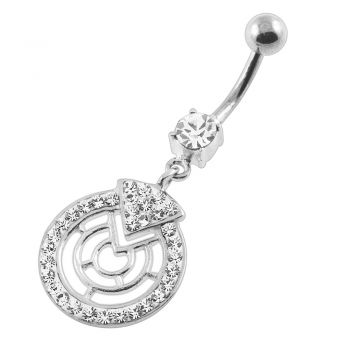 Buy Multi Jeweled Round Maze Navel Belly Button Piercing online