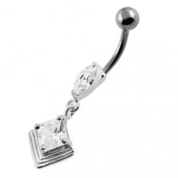 Buy Jeweled 2D Pyramid Navel Belly Button Piercing online