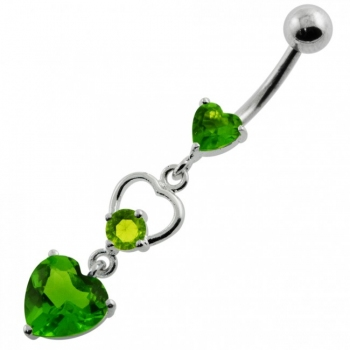 Buy Jeweled Heart Cutout Navel Belly Piercing online