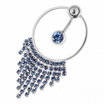 Buy Single Jewel with Hanging Gem Necklace Navel Belly Ring online