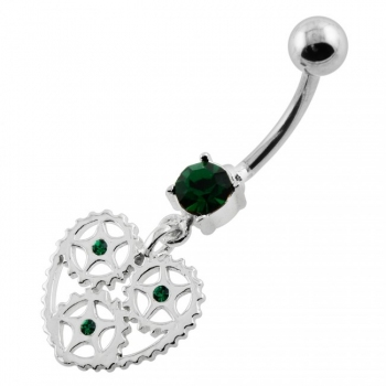 Buy Heart With Jeweled Gear Navel Belly Piercing online