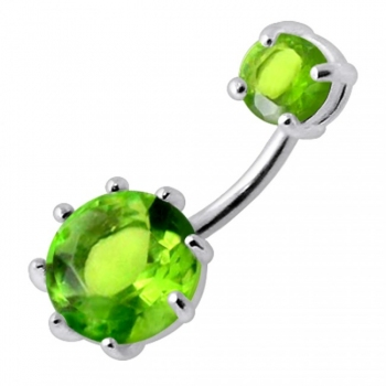 Buy Round Jeweled Spinal navel rings online