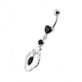 Buy Fancy Jeweled Dangling Navel Belly Ring online
