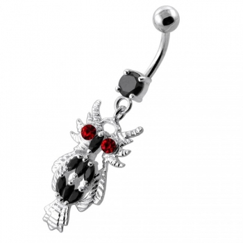 Buy Multi Jeweled Owl Dangling Navel Belly Ring online