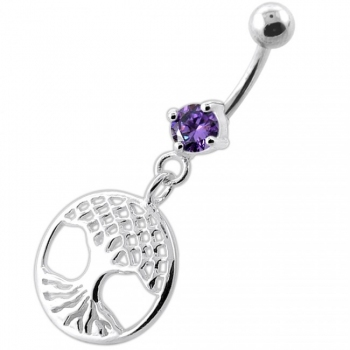 Buy Hanging Tree of Life Navel Belly Bar online