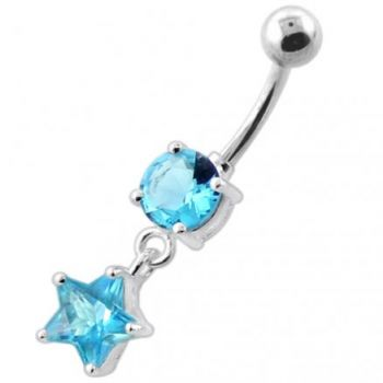 Buy Jeweled Hanging Star Navel Belly Banana online