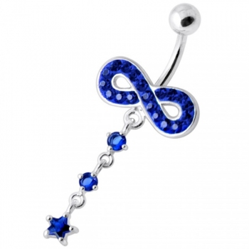 Buy Infinity with Star Jeweled Navel Ring online
