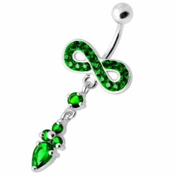 Buy Jeweled Infinity Dangling Navel belly bar online
