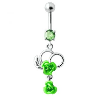 Buy Fancy Silver Jeweled Dangling Navel Ring online