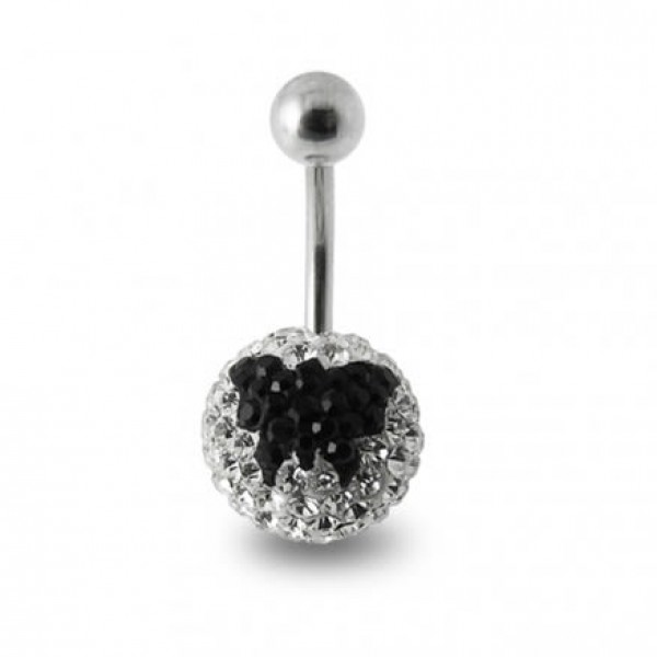 Buy Butterfly Crystal stone Banana Navel Ring online