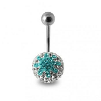 Buy Crystal stone Studded Star SS  Navel Ring Body Jewelry online