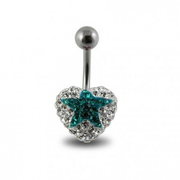 Buy Crystal stone Star Navel Ring In Surgical Steel  FDBLY354 online